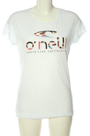 O'neill T-shirt bianco caratteri stampati stile casual