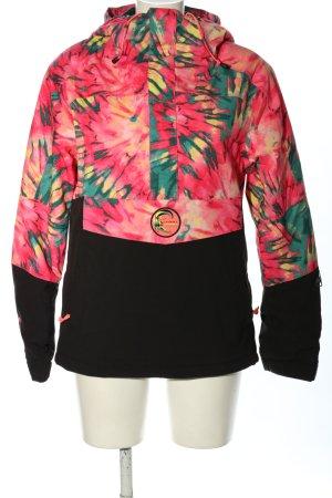 O'neill Windbreaker pink-black abstract pattern casual look
