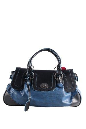 Henkeltasche blau-schwarz Casual-Look