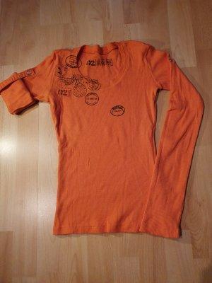 Prążkowana koszulka jasny pomarańczowy-pomarańczowy