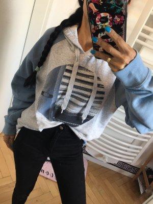 Oakley Hoodie Kapuzenpulli Sweatshirt pullover Grau/blau Kapuzenpullover Gr:S