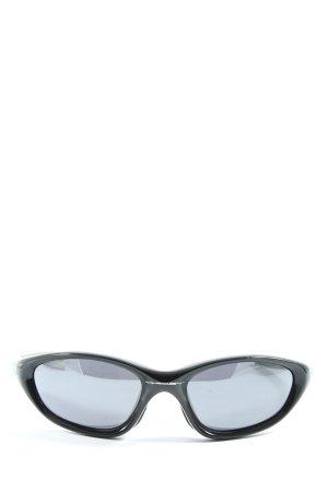 Oakley Occhiale da sole ovale nero caratteri stampati stile casual