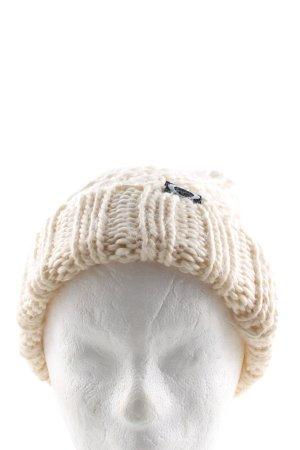 Oakley Cappello a maglia crema punto treccia stile casual