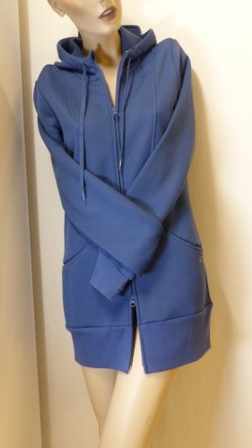 Oakley Hooded Coat steel blue mixture fibre