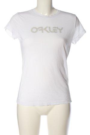 Oakley T-Shirt weiß Schriftzug gedruckt Casual-Look