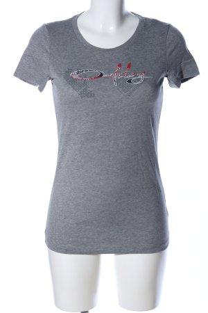 Oakley T-Shirt hellgrau meliert Casual-Look
