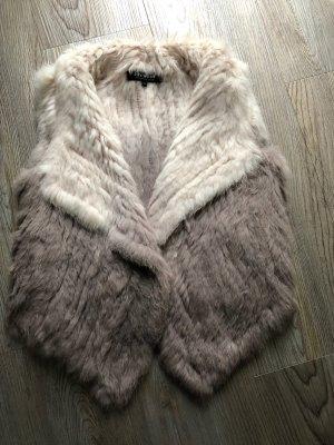 Oakwood Damen Kaninchen Pelz Fellweste Duty mit Farbverlauf aus 100% Tierhaar Echthaar