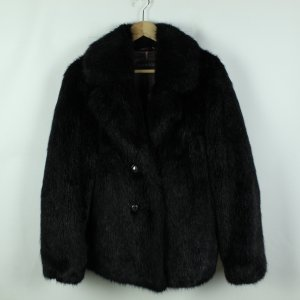 OAKWOOD Fake Fur Jacke Gr. M schwarz (20/09/192*)