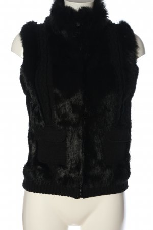 Oakwood Futrzana kamizelka czarny Warkoczowy wzór W stylu casual