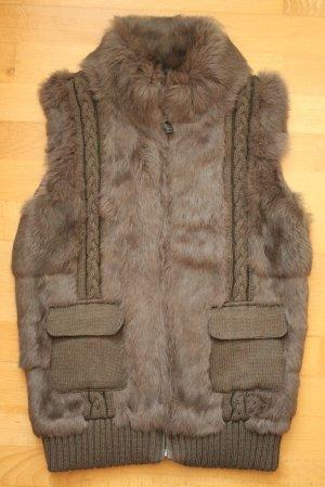 Oakwood Fur vest brown-light brown