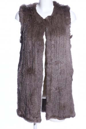 Oakwood Futrzana kamizelka jasnoszary W stylu casual
