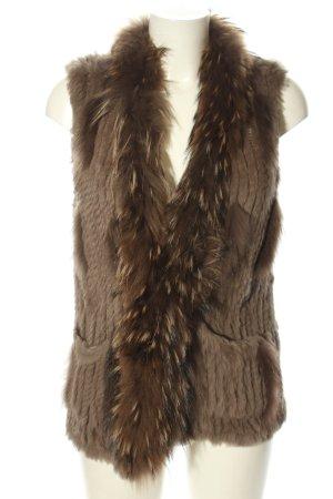 Oakwood Futrzana kamizelka brązowy W stylu casual