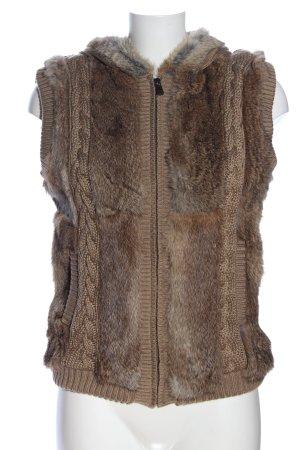 Oakwood Futrzana kamizelka brązowy Warkoczowy wzór W stylu casual