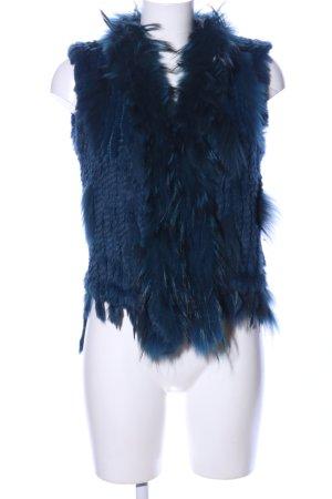 Oakwood Fellweste blau Casual-Look