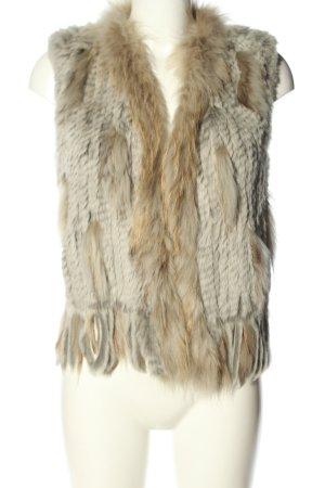 Oakwood Fur vest cream-light grey allover print casual look