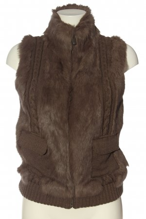 Oakwood Gilet en fourrure brun torsades style mode des rues