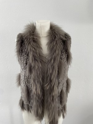 Oakwood Smanicato di pelliccia grigio-grigio scuro