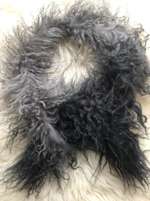 Oakwood Fringed Scarf dark grey-anthracite