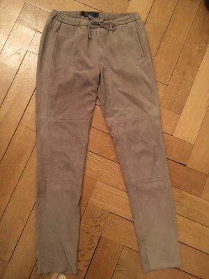 Oakwood Pantalón de cuero beige-camel