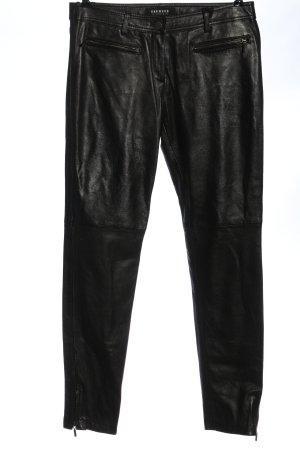 Oakwood Faux Leather Trousers black casual look