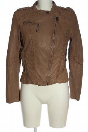 Oakwood Kurtka z imitacji skóry brązowy W stylu casual