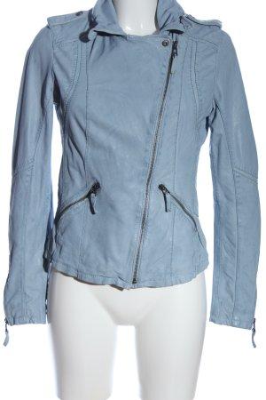 Oakwood Kunstlederjacke blau Casual-Look