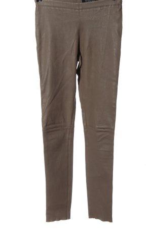 Oakwood Leren broek bruin casual uitstraling