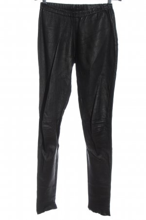 Oakwood Leather Trousers black casual look