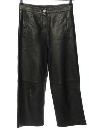 Oakwood Lederhose schwarz Casual-Look