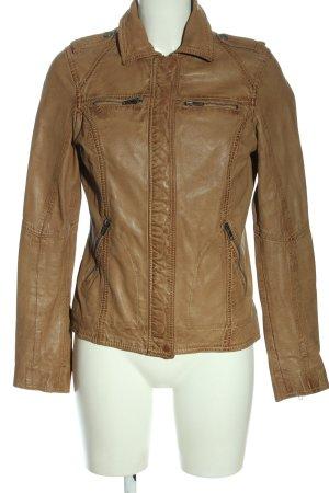 Oakwood Veste en cuir brun style décontracté