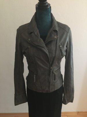 Oakwood Biker Jacket grey leather
