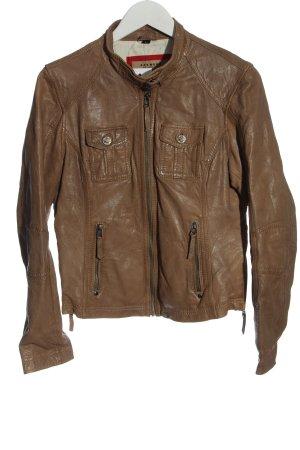 Oakwood Leather Jacket brown casual look