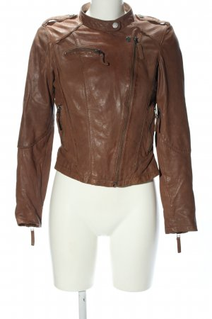 Oakwood Giacca in pelle marrone stile casual