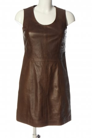 Oakwood Leather Dress brown casual look