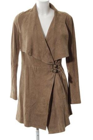 Oakwood Ledermantel bronzefarben Business-Look