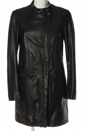 Oakwood Leather Coat black casual look