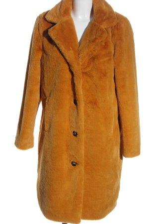 Oakwood Futrzany płaszcz jasny pomarańczowy Elegancki