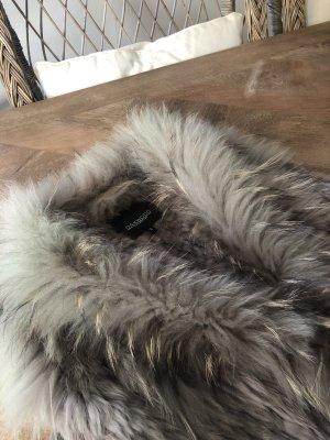 Oakwood Fur vest taupe-grey brown