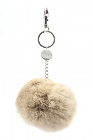 Oakwood Key Chain natural white-silver-colored casual look
