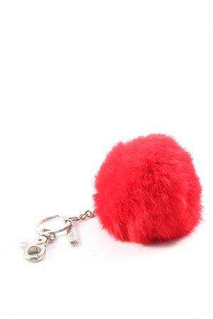 Oakwood Key Chain red-silver-colored casual look