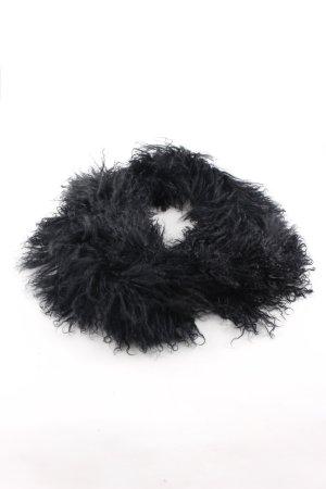 Oakwood Fransenschal schwarz Elegant