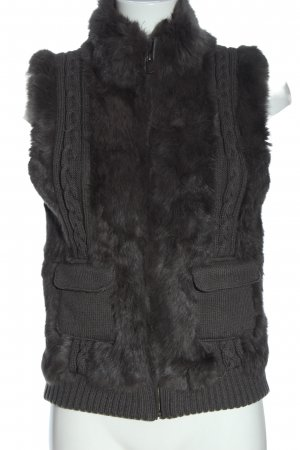 Oakwood Knitted Vest light grey cable stitch casual look