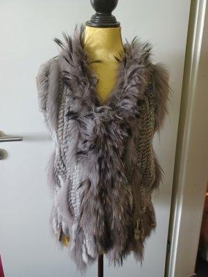 Oakwood Chaleco de piel gris claro-gris