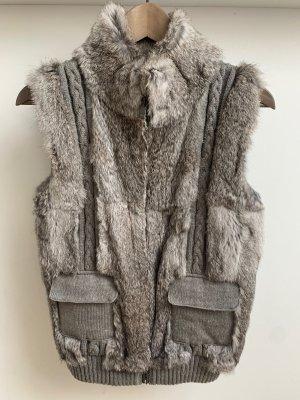 Oakwood Fur vest light grey-grey mohair