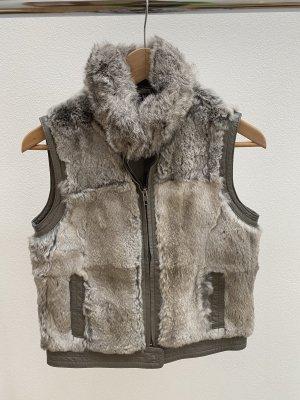Oakwood Fur vest grey brown-silver-colored pelt