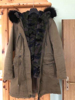Oakwood Cappotto invernale cachi-nero