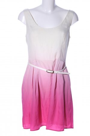Oasis A-Linien Kleid weiß-pink Farbverlauf Elegant