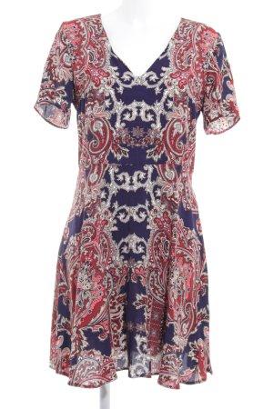 Oasis A-Linien Kleid dunkelblau-dunkelrot abstraktes Muster Elegant
