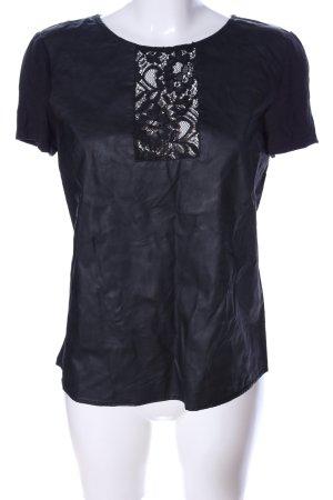 Oasis A-Linien Top schwarz Casual-Look