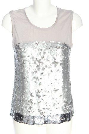 Oasis Bluzka bez rękawów srebrny W stylu casual